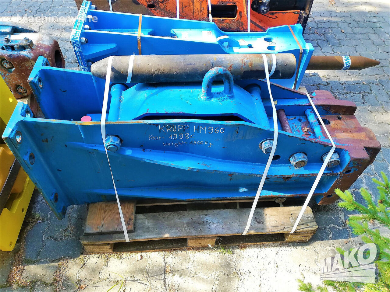 KRUPP HM 951 960 hidrauliskais āmurs