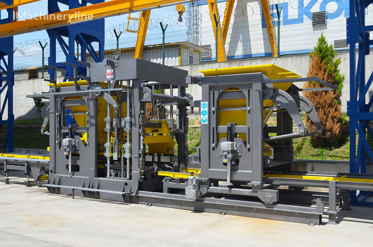 jauns ELKON ELKOBLOCK-36S FULLY AUTOMATIC SINGLE LAYER Concrete Block Machin aprīkojums betona bloku ražošanai