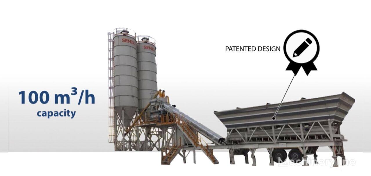 jauns SEMIX Mobile 100S4 Concrete Mixing Plant betona rūpnīca