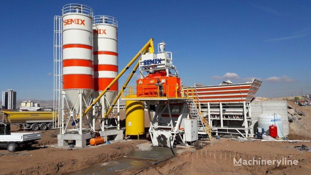 jauns SEMIX Mobile 135Y Concrete Mixing Plant betona rūpnīca