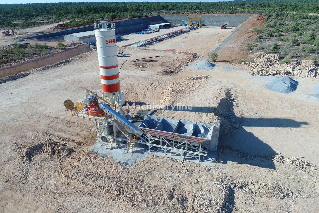 jauns SEMIX Mobile 60S4 Concrete Mixing Plant betona rūpnīca