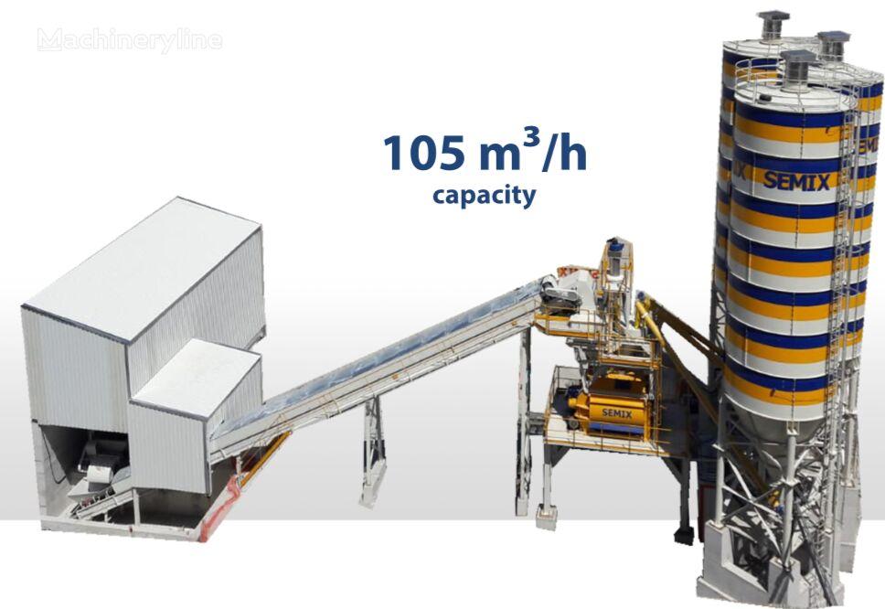 jauns SEMIX SEMIX Stationary Concrete Bathcing Plant 105 m³/h betona rūpnīca