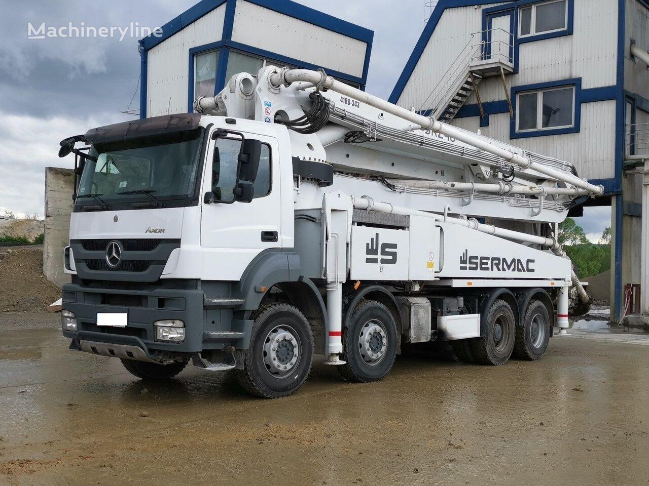 MERCEDES-BENZ 4140 8x4 Euro 5, 2016year Sermac 46m Concrete pump, 5RZ46, 150m3 betona sūknis