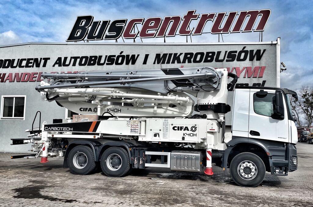 jauns MERCEDES-BENZ Arocs 2840 6x4 CIFA K 40.16 H Carbotech   betona sūknis