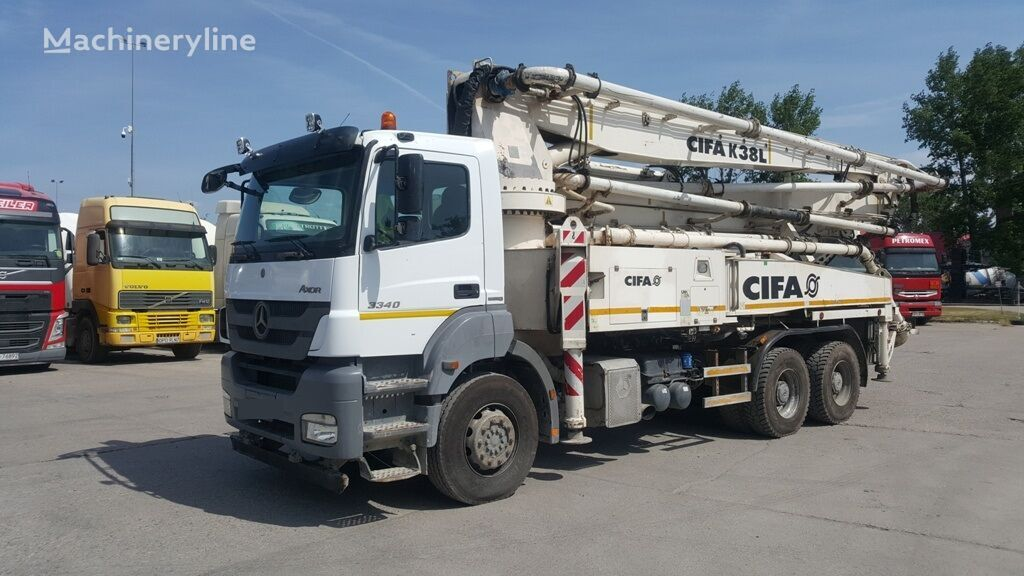 MERCEDES-BENZ Axor 3340 Euro 5, CIFA K38L concrete pump, 11/2015 betona sūknis