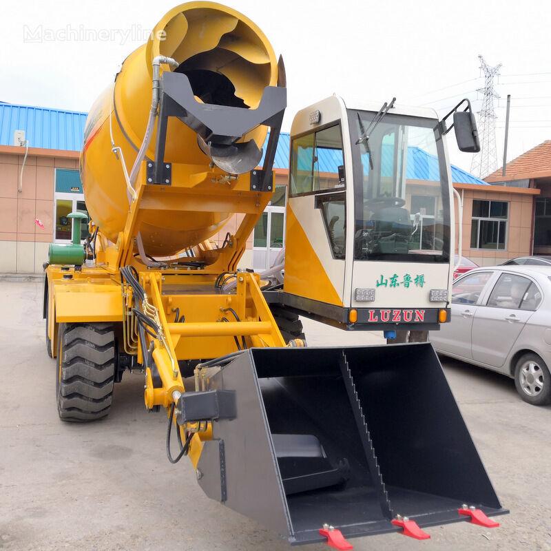 jauns selfloading concrete mixer ekskavators ar taisnu lāpstu