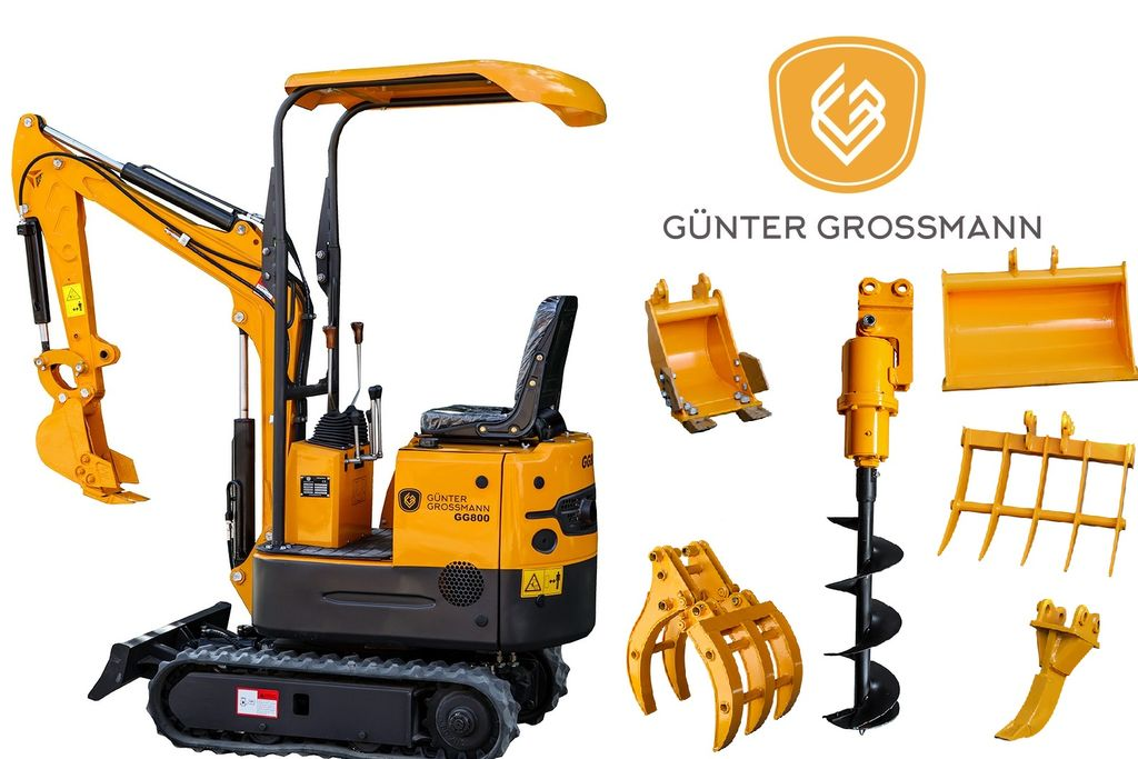 jauns Günter Grossmann GG800 Minikoparka + Akcesoria - Mini koparka  mini ekskavators