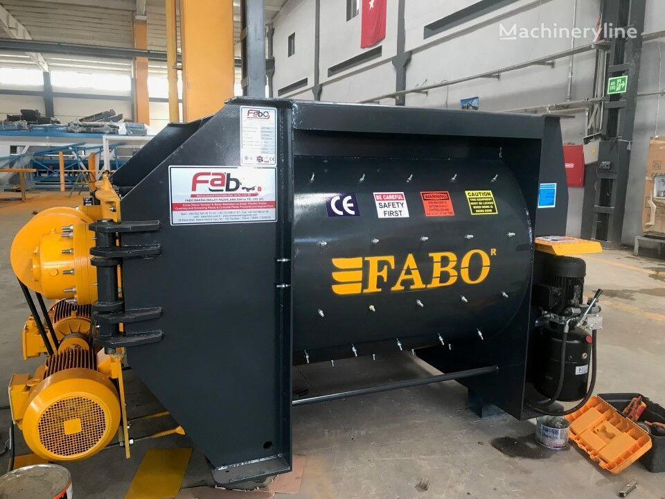 jauns FABO 1 m3 TWIN SHAFT MIXER IS READY betona maisītājs