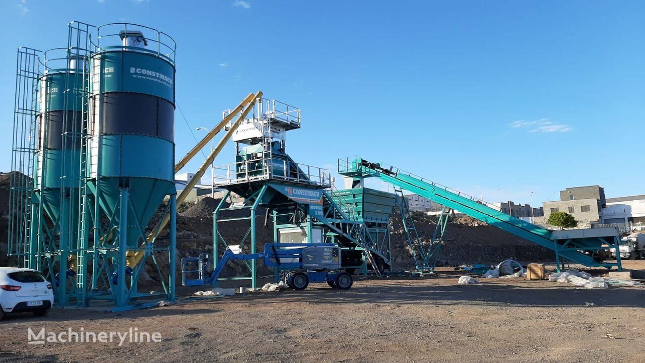 jauns CONSTMACH 100 m3/h MOBILE CONCRETE PLANT betona rūpnīca