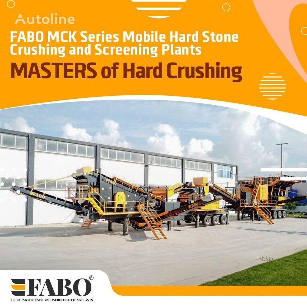 jauna FABO MCK-110 MOBILE CRUSHING & SCREENING PLANT | JAW+SECONDARY mobilā drupināšanas iekārta