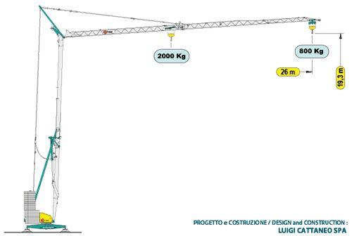 CATTANEO CM76A torņa celtnis
