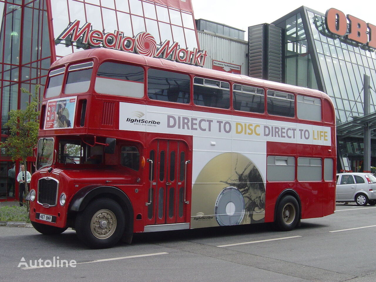 Bristol LODEKKA Low Height British Double Decker Bus Marketing Training  divstāvu autobuss