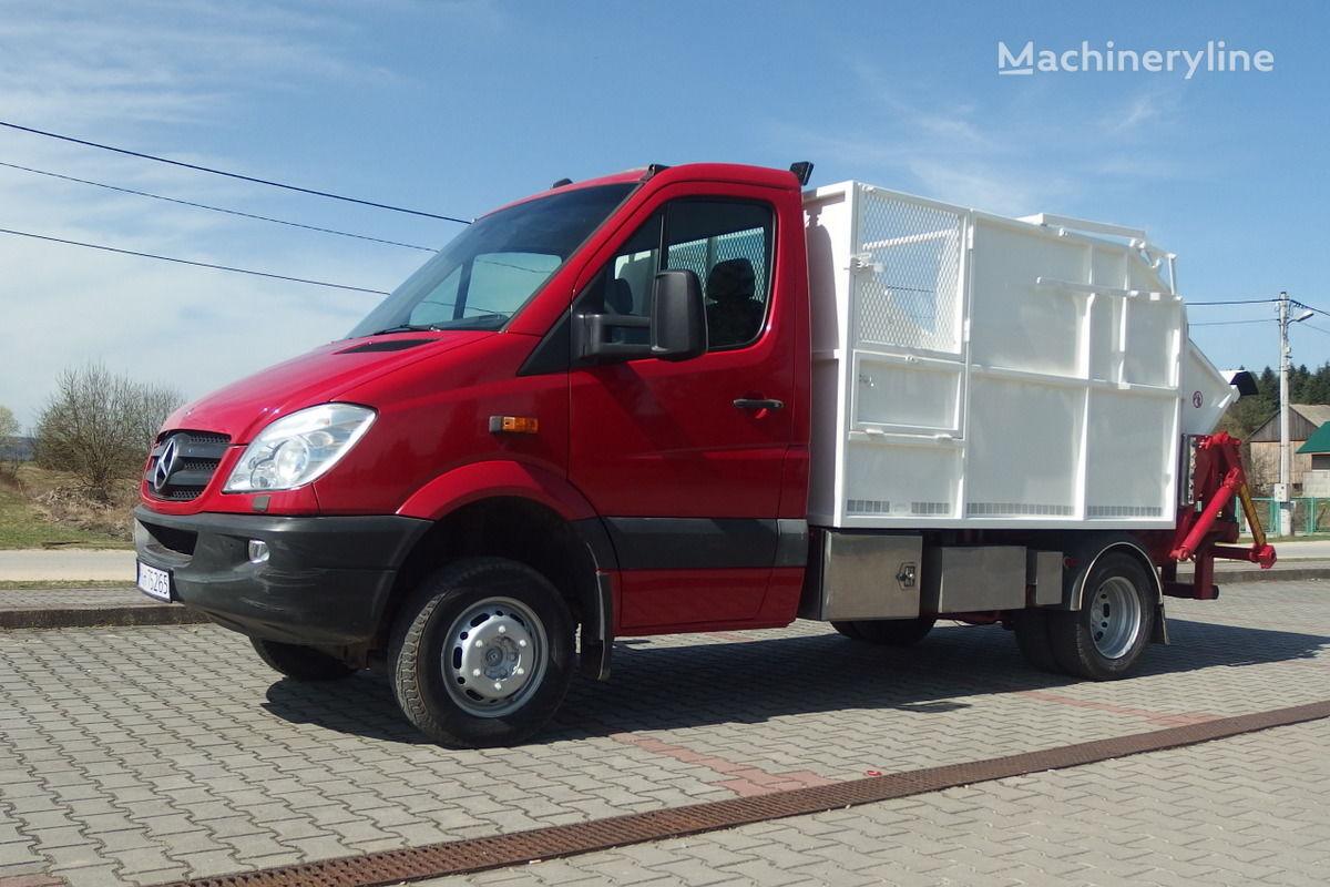 MERCEDES-BENZ Sprinter 516 CDI 4x4  Śmieciarka segregacja 2-KOMORY atkritumu vedējs