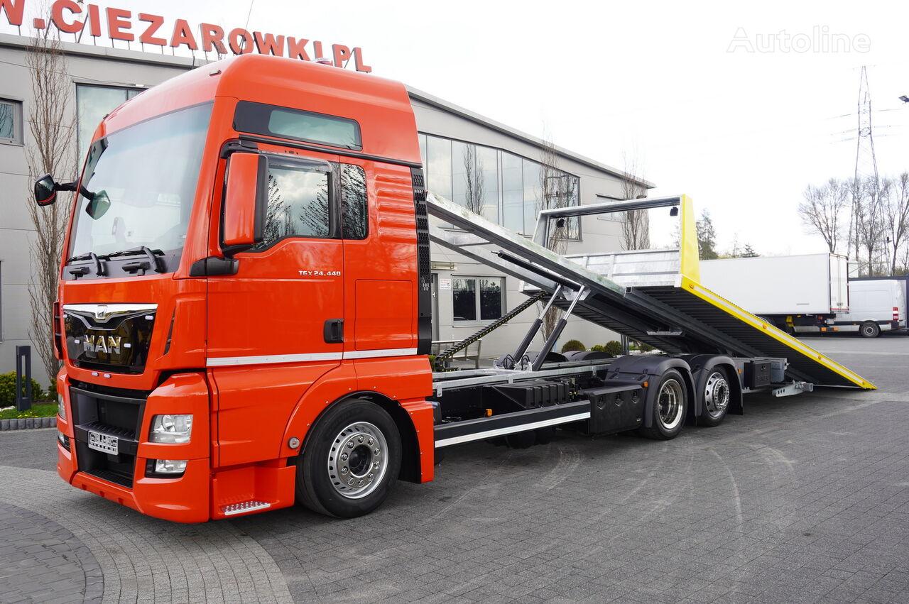 MAN TGX 26.440 XXL , E6 , 6X2 , NEW BODY 7,5m , hydraulic , 2x winch auto vedējs
