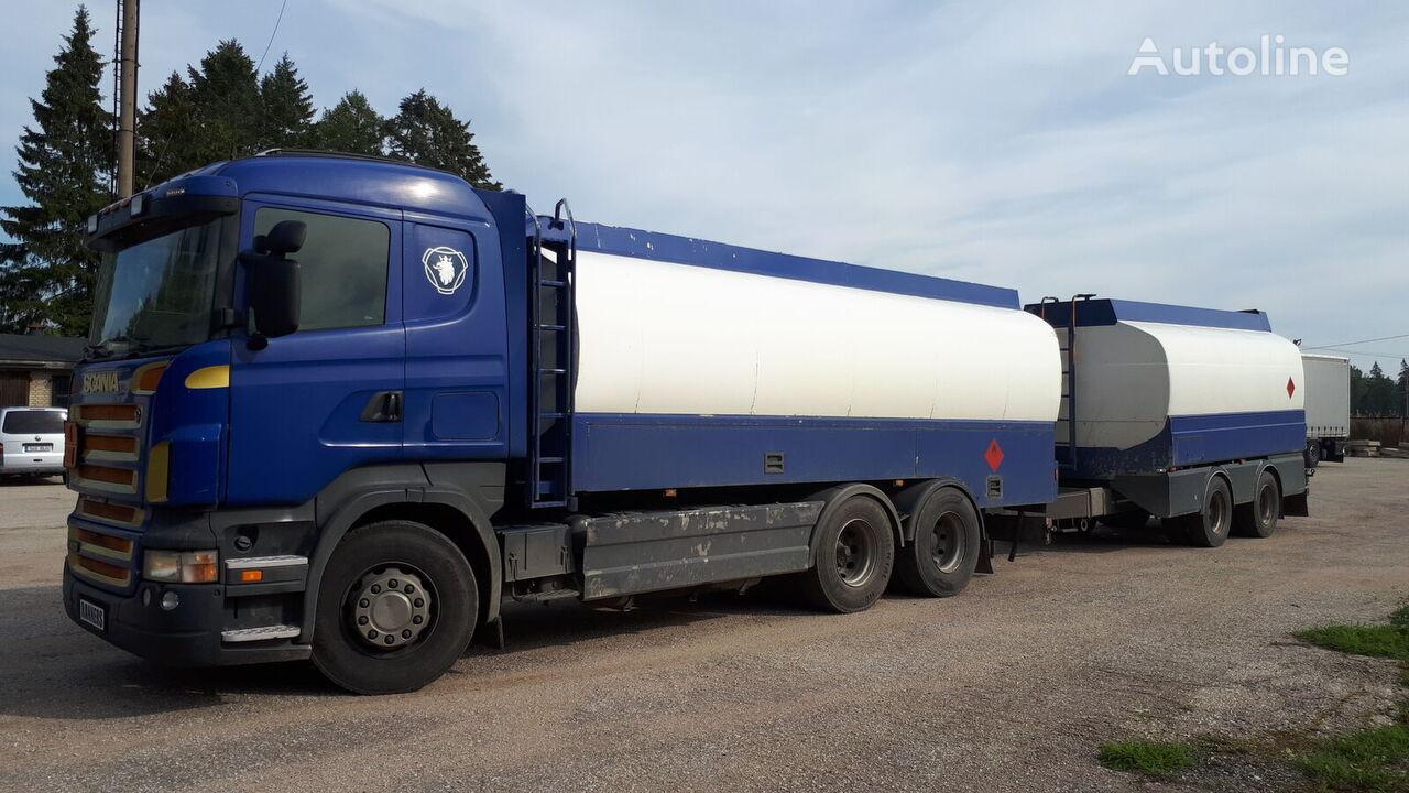 SCANIA R420 6x2 fuel tank + trailer benzīnvedējs + degvielas cisterna