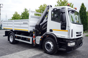 IVECO Eurocargo 160E25 , EEV , 4X2 , tipper + Crane , Remote Control  bortu kravas automašīna