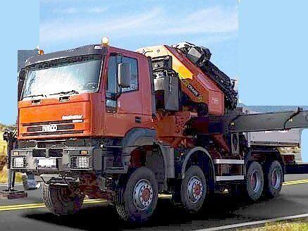 IVECO 8x8 + 25t/25m jib (2008) bortu kravas automašīna