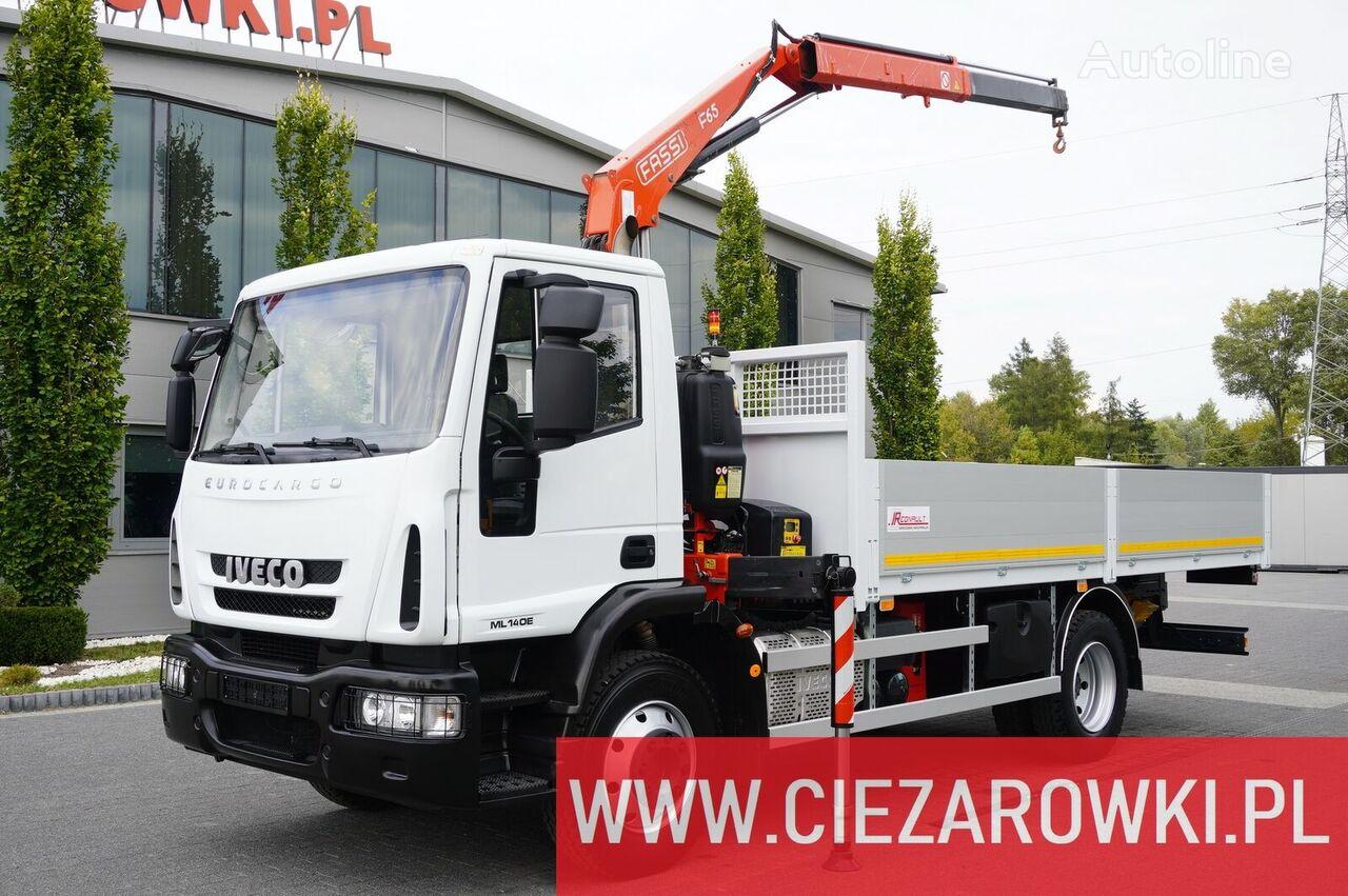IVECO Eurocargo 140E 19K , E6 , 4x2 , 70k km , box 5,5m Crane Fassi F6 bortu kravas automašīna
