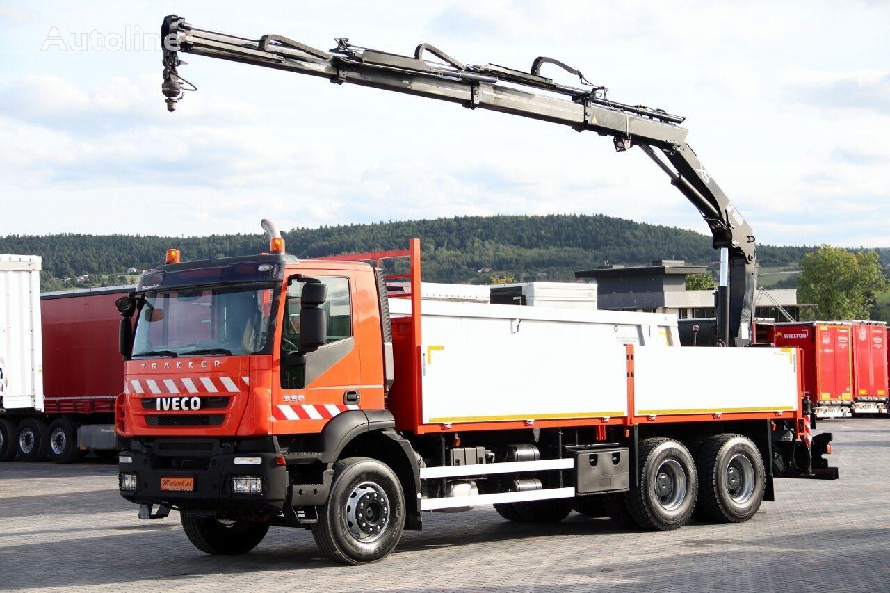 IVECO TRAKKER 330 / 6X4 / MACARA HIAB 144 / RADIO COMMANDE / ROTATOR / bortu kravas automašīna