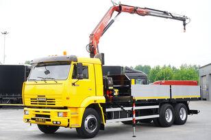 KAMAZ 65117 , 6x4 , Crane Fassi 95 , rotator , box 6m bortu kravas automašīna