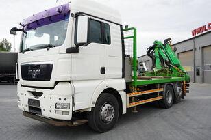 MAN TGX 26.440 XLX  ,E5 , steer axle , Crane Palfinger Epilson + rem bortu kravas automašīna