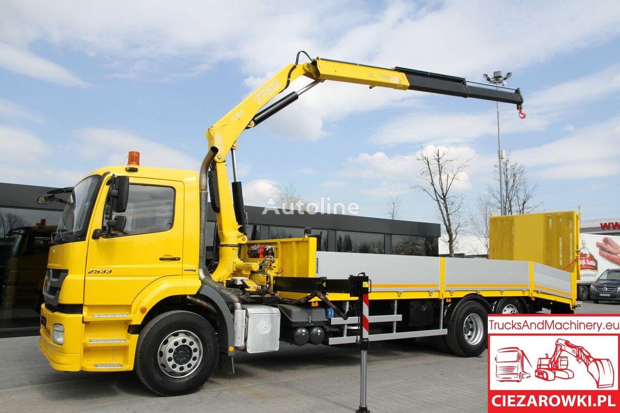 MERCEDES-BENZ AXOR / 2533 / Crane Fassi 150 / Winch 4,5t / 260k km / car tow t bortu kravas automašīna