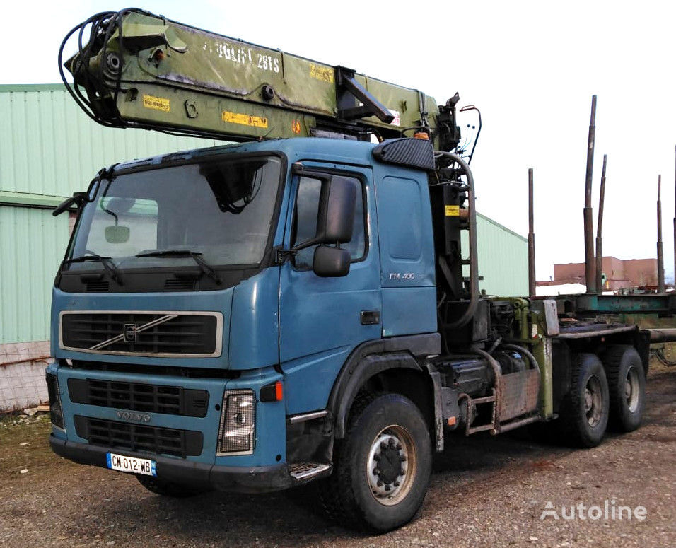 VOLVO FM 480 6x6 for wood transport kokvedējs