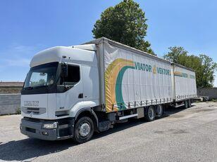 RENAULT Premium 420 kravas automašīna ar aizkariem + aizkaru tipa piekabe