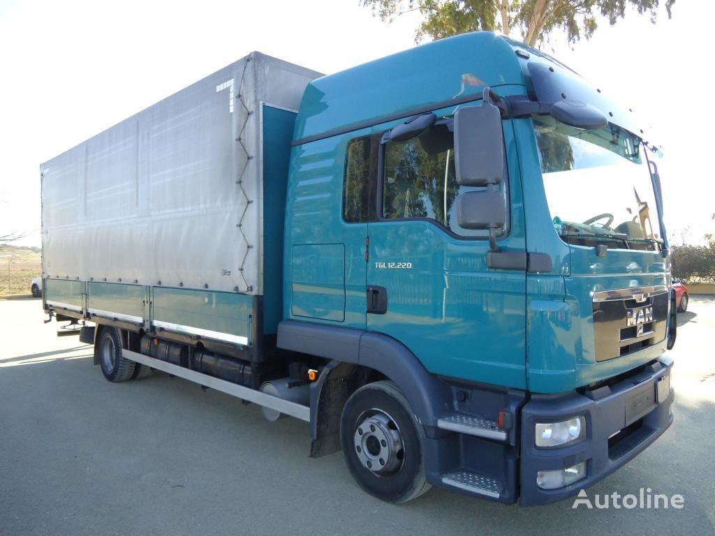 MAN  TGL 12 220 kravas automašīna ar aizkariem