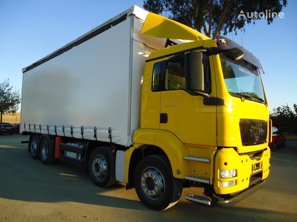 MAN TGS 35 440 kravas automašīna ar aizkariem