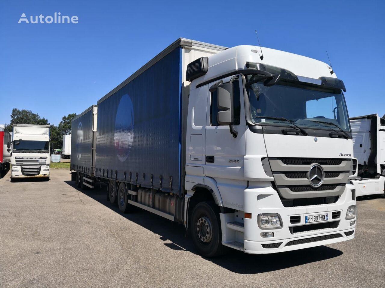MERCEDES-BENZ Actros 2544 FROM FRANCE kravas automašīna ar aizkariem + aizkaru tipa piekabe