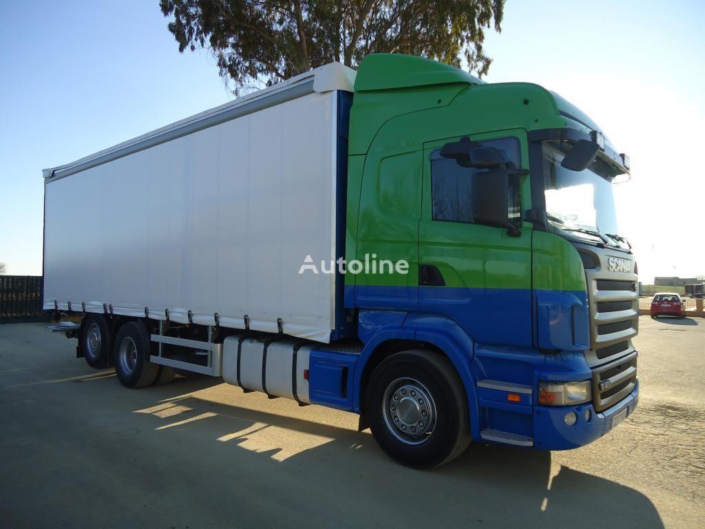 SCANIA R 400 kravas automašīna ar aizkariem