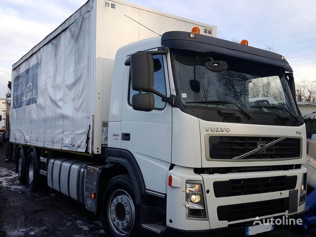 VOLVO FM 380 6X2 + hiab 144 BS 2 HI DUO kravas automašīna ar aizkariem