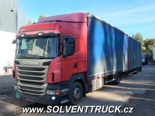 SCANIA R400,Euro 5, Automat kravas automašīna ar tentu + kravas kaste ar tentu piekabe