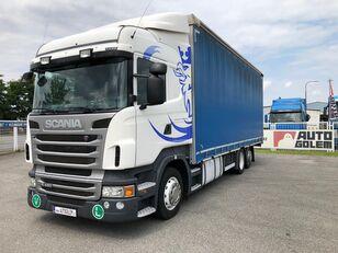SCANIA R420 LB6x2 flatbed kravas automašīna ar tentu