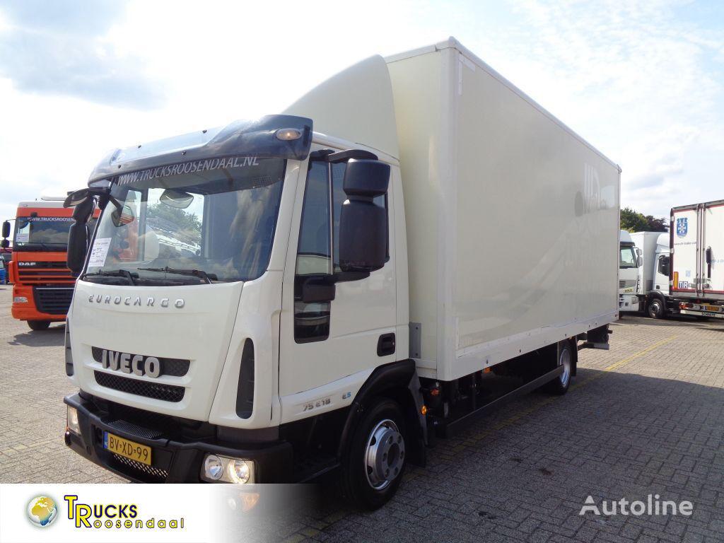 IVECO EuroCargo 75E18 + Euro 5 + Lift kravas automašīna furgons
