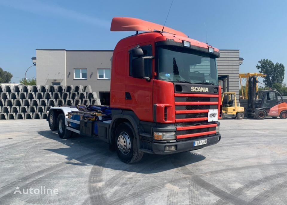 SCANIA 164G kravas automašīna pacēlājs ar āķi