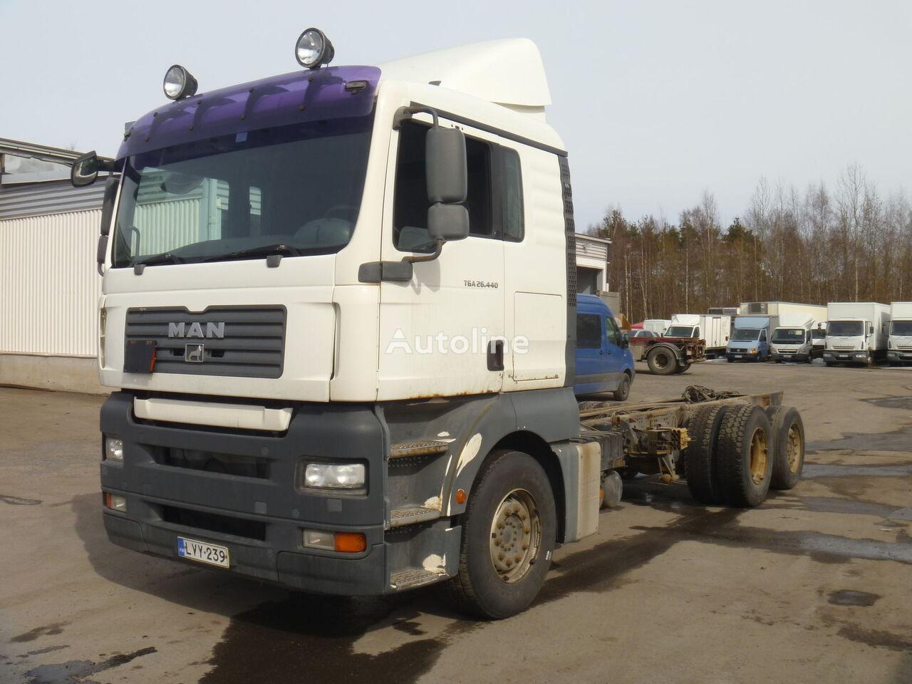 MAN TGA 26.440 6X2 kravas automašīna šasija