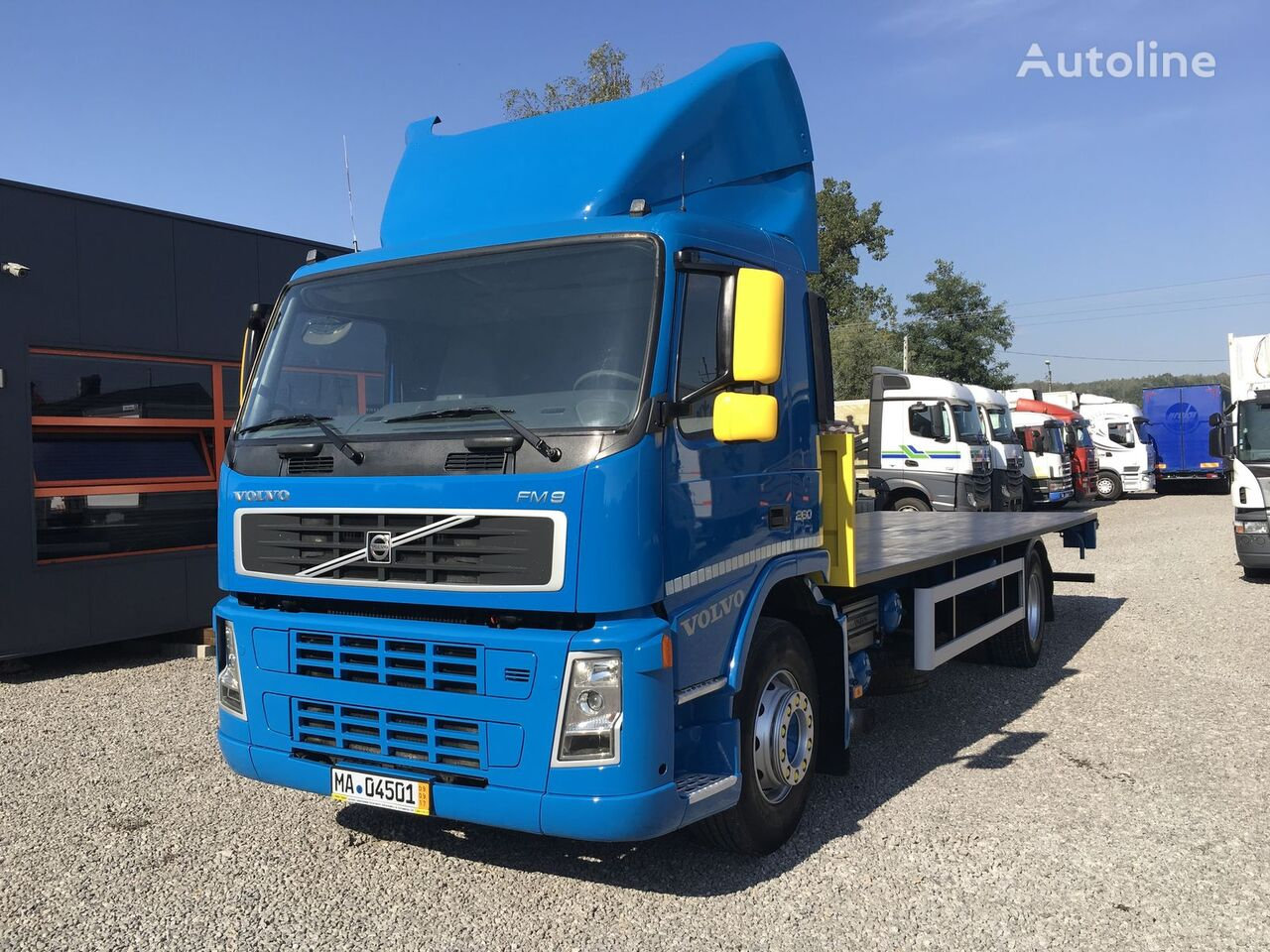VOLVO FM7 290 platforma kravas automašīna