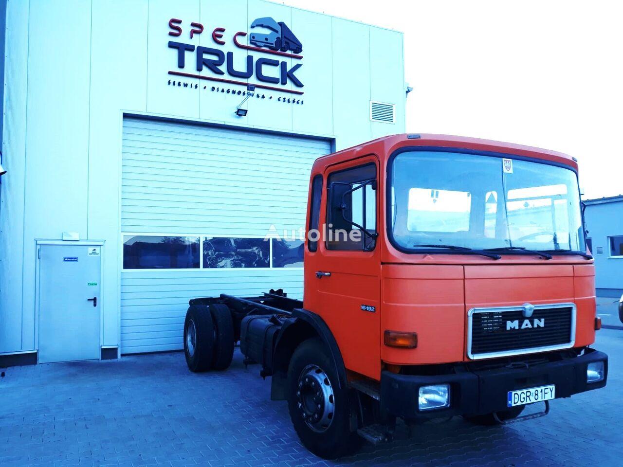 MAN 16.192, Big Steel,  Steel / Stell , 6 cylinders ,Great condition šasija kravas automašīna