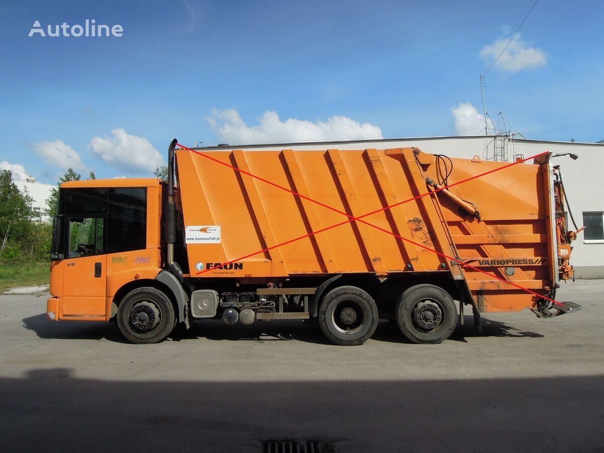 MERCEDES-BENZ Econic garbage truck frame chassis FAUN  šasija kravas automašīna