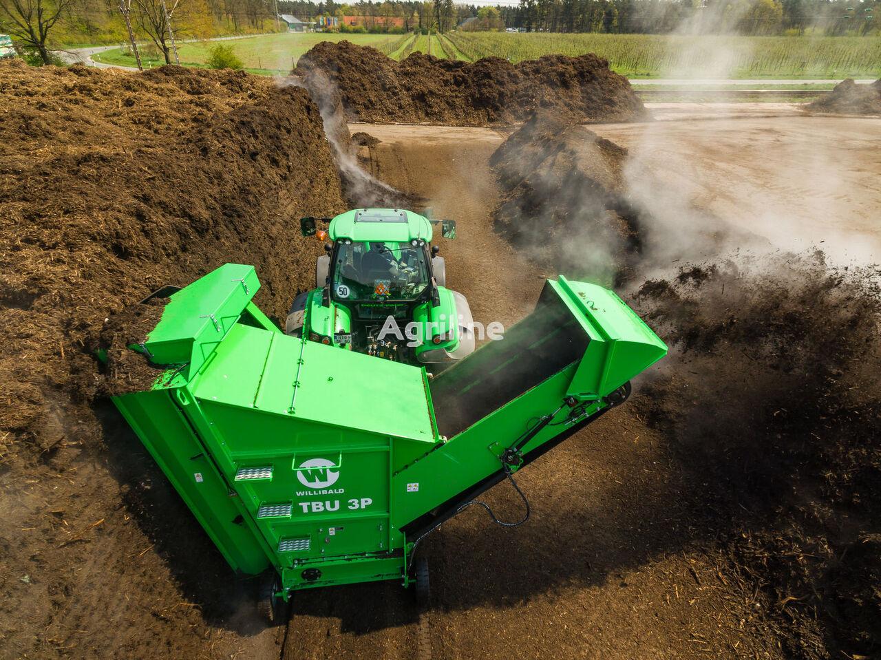 jauna WILLIBALD TBU 3P mobilniy perevarachuvatel kompostu komposta mašīna
