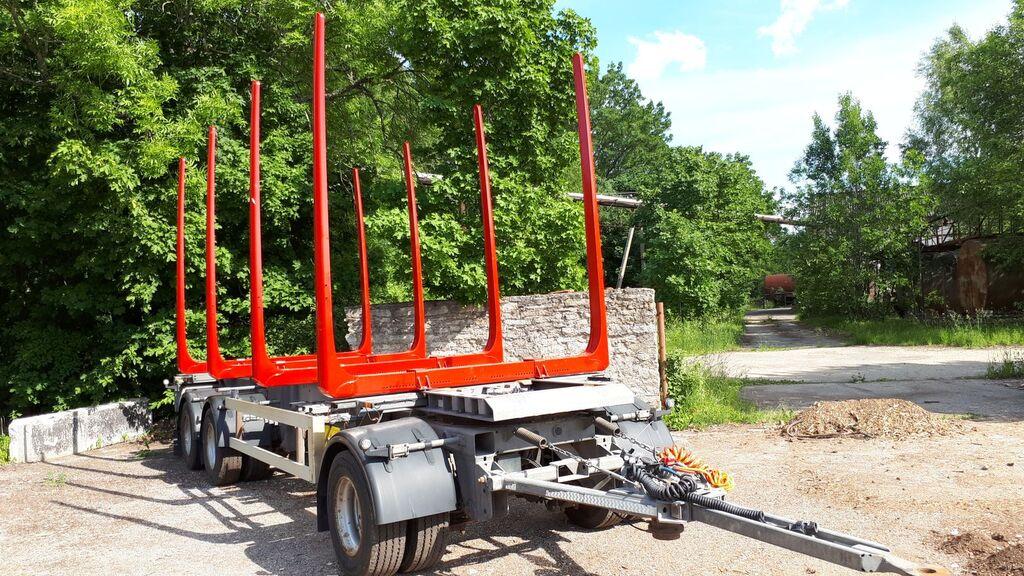 HFR timber trailer + new bunks and tyres koku vedējs piekabe
