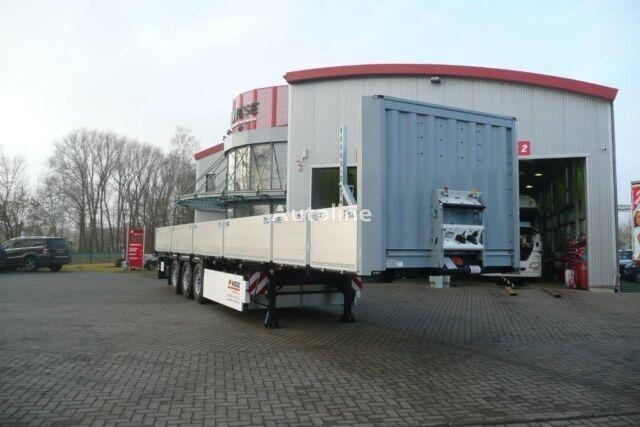 jauns KRONE Baustoffauflieger Stahlmattentransport bortu puspiekabe