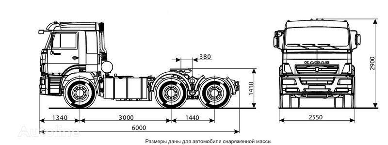 jauns KAMAZ 6460 (6h4) vilcējs