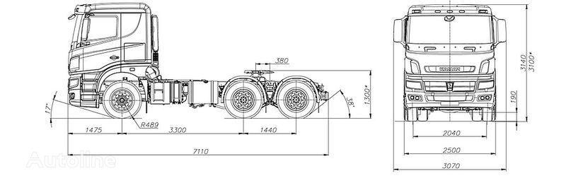 jauns KAMAZ 65206 vilcējs